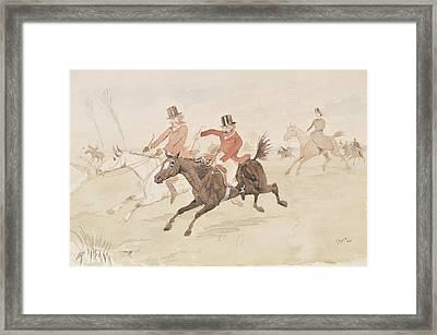 Hunting Scene  Framed Print by English School