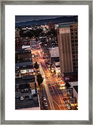 Huntington After Dark Framed Print by Lee Wellman