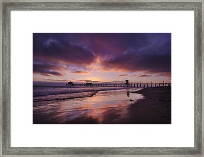 Huntington Beach California Framed Print by Sean Foster