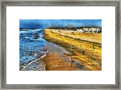 Framed Print featuring the photograph Huntington Beach by Clare VanderVeen
