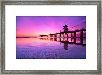 Huntington Beach Framed Print by Lincoln Harrison