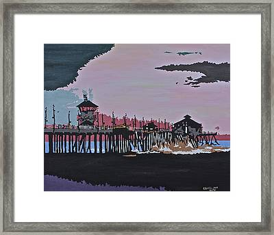 Huntington Beach Pier 1 Framed Print