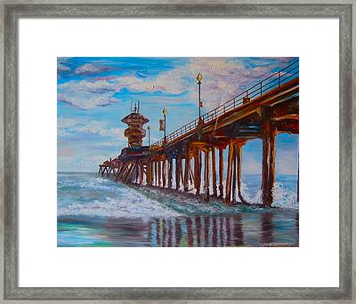 Huntington Beach Pier 2 Framed Print