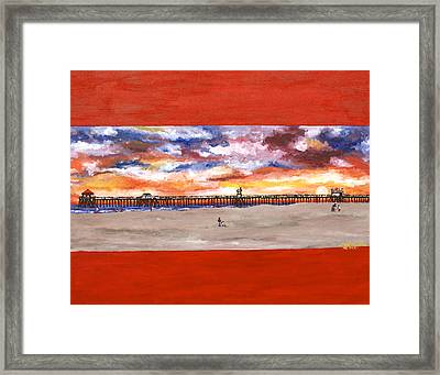 Huntington Beach Pier 3 Framed Print