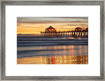 Huntington Beach Pier Framed Print