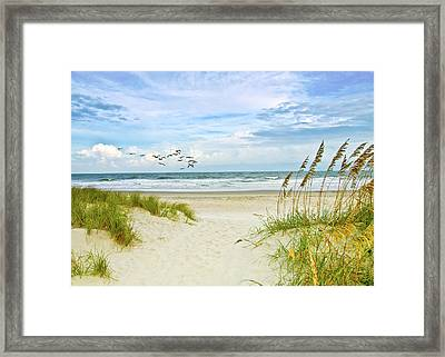 Huntington Beach Scene Framed Print