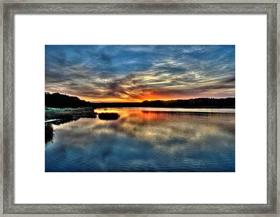 Framed Print featuring the photograph Huntington Beach Sunset by Ed Roberts