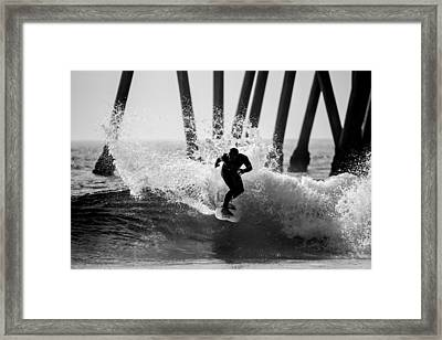 Huntington Beach Surfer 2 Framed Print by Pierre Leclerc Photography