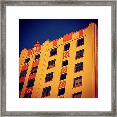 Huntington Bldg. - Miami ( 1925 ) Framed Print