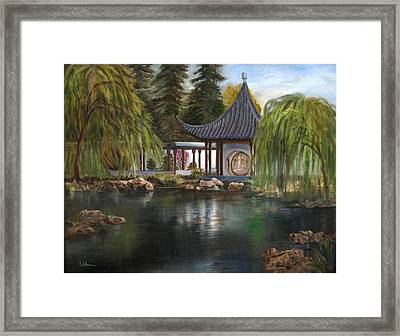 Huntington Chinese Gardens Framed Print