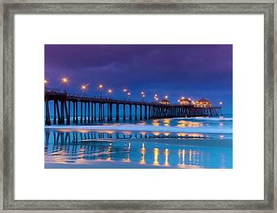 Huntington Dawn Framed Print by Sean Davey