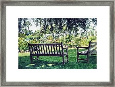 Huntington Rose Garden Framed Print