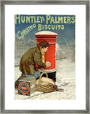 Huntley And Palmers 1890s Uk Framed Print by The Advertising Archives
