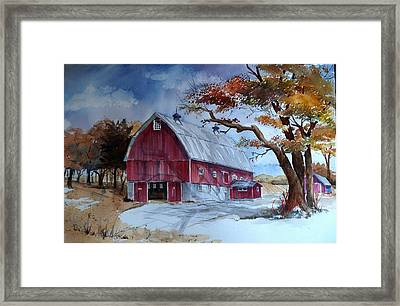 Huntley Farm Framed Print