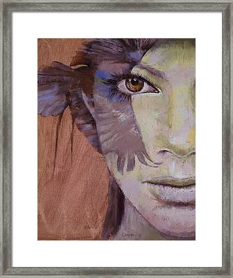 Huntress Framed Print by Michael Creese