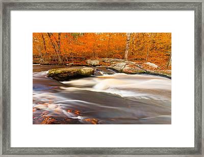 Hunts Mill In Orange Framed Print by Bryan Bzdula