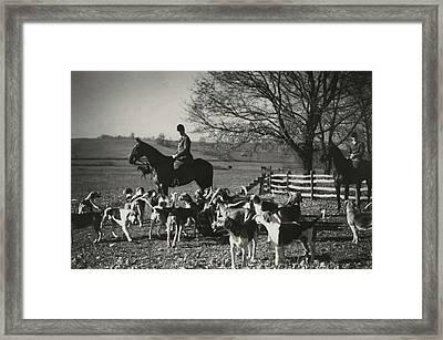 Huntsman Alfred Smithwick Sitting On His Horse Framed Print