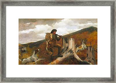 Huntsman And Dog Framed Print