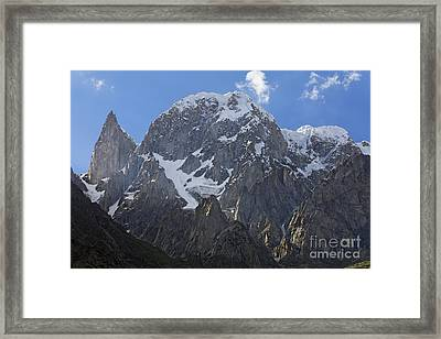 Hunza Peak And Ladys Finger Peak In The Karakorum Pakistan Framed Print by Robert Preston
