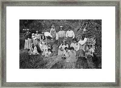 Hupa Native Americans Framed Print by Underwood Archives
