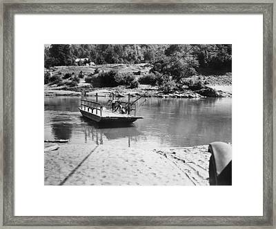 Hupa Reservation Ferry Framed Print by Underwood Archives
