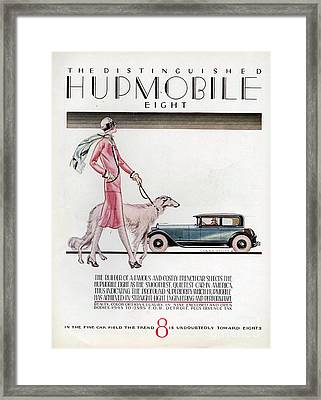 Hupmobile  1926 1920s Usa Cc Cars Dogs Framed Print by The Advertising Archives