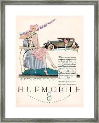 Hupmobile 1927 1920s Usa Cc Cars Framed Print by The Advertising Archives