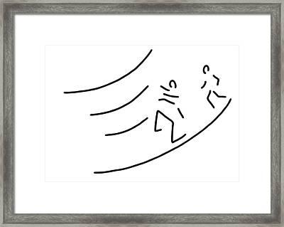 Hurdle-race Athletics Metres Run Framed Print