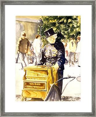 Hurdy Gurdy Frau Framed Print by Leisa Shannon Corbett