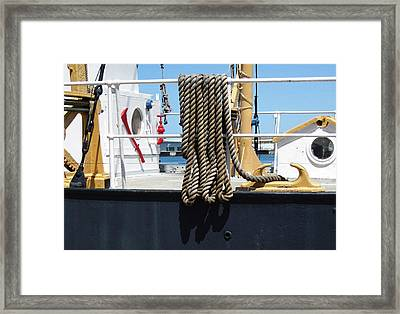 Huron 8 Framed Print by Mary Bedy