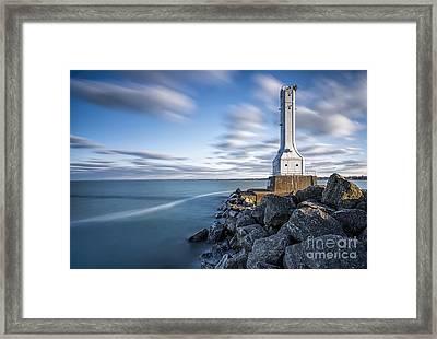 Huron Harbor Lighthouse Framed Print by James Dean