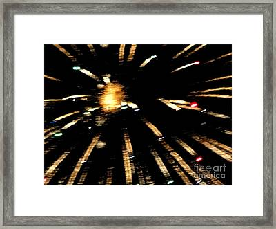 Huron Ohio Fireworks 10 Framed Print by Jackie Bodnar