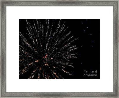 Huron Ohio Fireworks 14 Framed Print by Jackie Bodnar