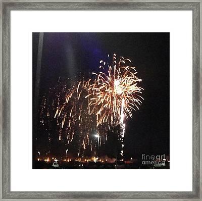 Huron Ohio Fireworks 2 Framed Print by Jackie Bodnar