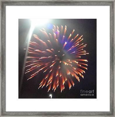 Huron Ohio Fireworks 5 Framed Print by Jackie Bodnar