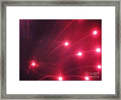 Huron Ohio Fireworks 7 Framed Print by Jackie Bodnar