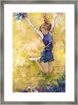 Hurrah Framed Print by Karen Ahuja