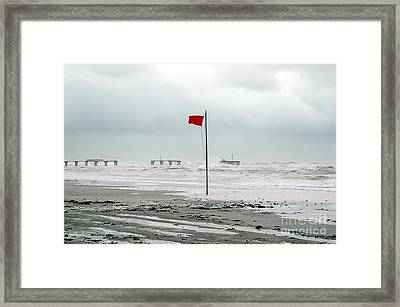 Hurricane At Gulf Shores Alabama Framed Print