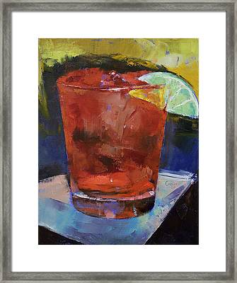 Hurricane Cocktail Framed Print by Michael Creese