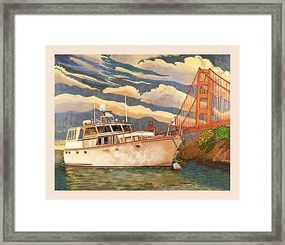 Sausalitos Hurricane Gulch Anchorage Framed Print by Jack Pumphrey