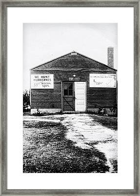 Hurricane Hunters Outbuilding In Alaska Framed Print