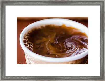 Hurricane In A Cup Framed Print by Hastings Franks
