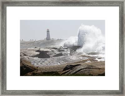 Hurricane Irene At Peggy's Cove Nova Scotia Canada Framed Print