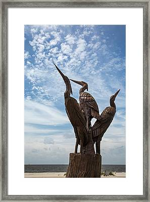 Hurricane Katrina Wood Carving Framed Print by Jim West