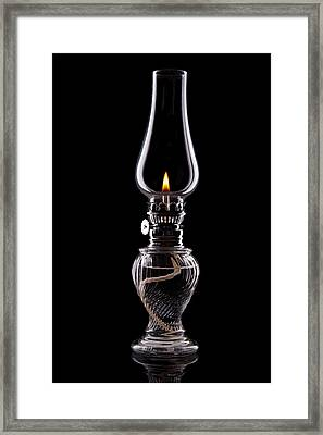 Hurricane Lamp Still Life Framed Print by Tom Mc Nemar