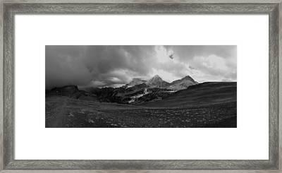 Hurricane Pass Storm Framed Print