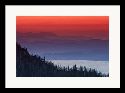 Hurricane Ridge Framed Prints