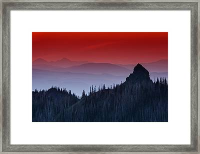 Hurricane Ridge Sunset Vista Framed Print