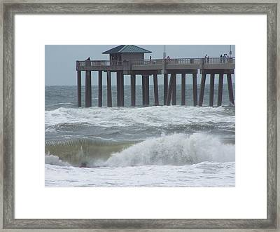Framed Print featuring the photograph Hurricane Rita 1 by Michele Kaiser