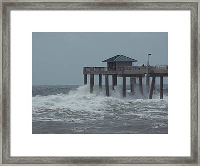 Framed Print featuring the photograph Hurricane Rita 2 by Michele Kaiser